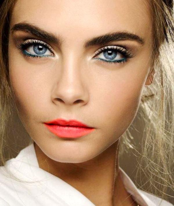Дневной макияж для голубых глаз дневной