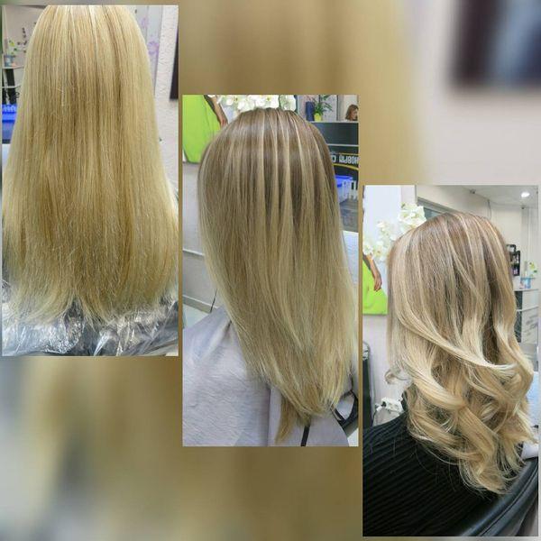 Окраска волос минск